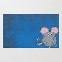 mouse Area & Throw Rugs featuring Mouse by Rafael Martinez