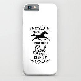 Horse Riding Girl Gift iPhone Case