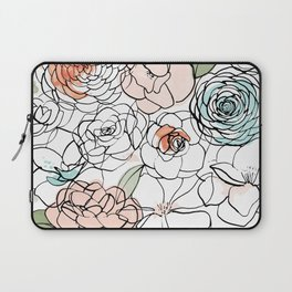 Inky Camellias Laptop Sleeve