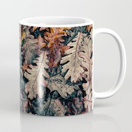 Autumn Leafs Pattern (Color) Coffee Mug