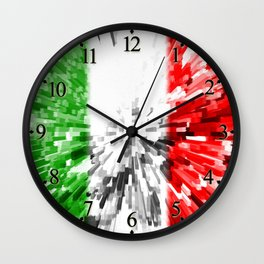 Extruded Flag of Italy Wall Clock
