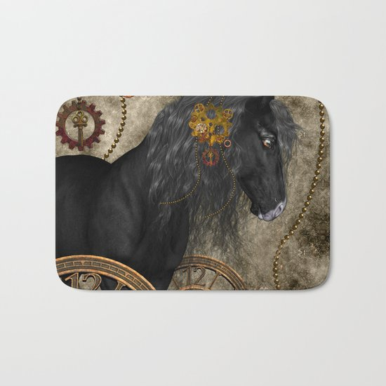 Beautiful wild horse Bath Mat