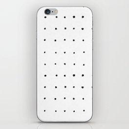 Dot Grid Black and White iPhone Skin