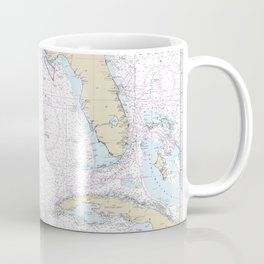 Gulf of Mexico Authentic Nautical Chart No. 411 Coffee Mug