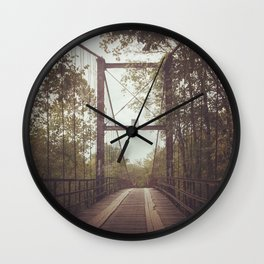 The Wooden Bridge Wall Clock