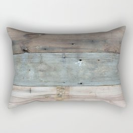 Rustic Western Country Barnwood Farmhouse Chic Grey Teal Beige Beach Wood Rectangular Pillow