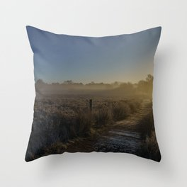 Frosty Morning At Chasewater Country Park Throw Pillow