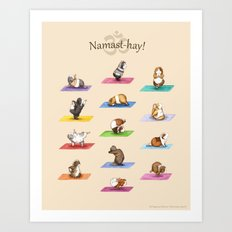The Yoguineas Collection - Namast-hay! Art Print