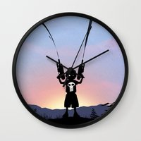 punisher Wall Clocks featuring Punisher Kid by Andy Fairhurst Art