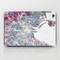 dublin iPad Cases featuring Dublin by MapMapMaps.Watercolors