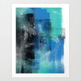 Abstract Blue Azur Art Print