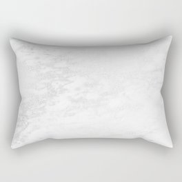 White Marble Silver Glitter Gray Rectangular Pillow