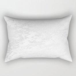 White Marble Silver Glitter Gray Rectangular Pillow