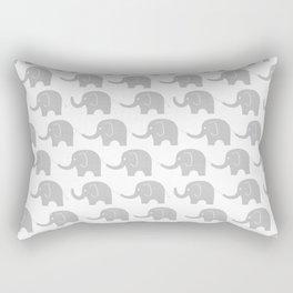 Grey Elephant Parade Rectangular Pillow
