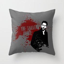 The Fallen Angel Throw Pillow