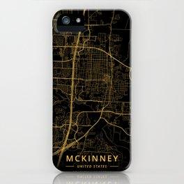 McKinney, United States - Gold iPhone Case