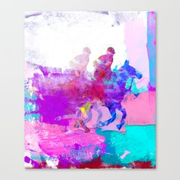 poloplayer abstract redblue Canvas Print