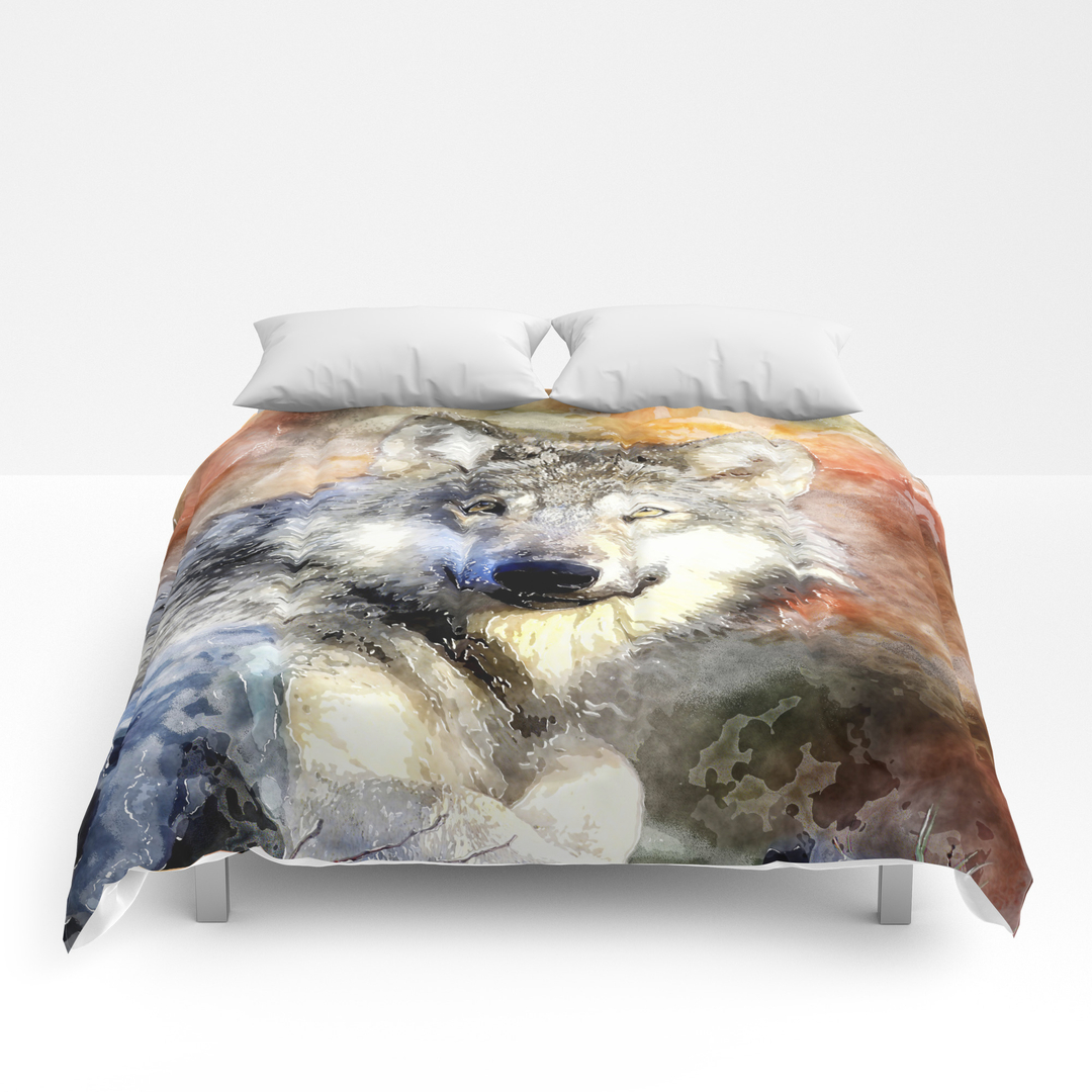 animals and wolf comforters  society -