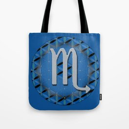 Flower of Life SCORPIO Astrology Design Tote Bag