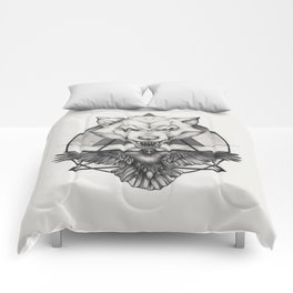 Wolf and Crow - Emblem Comforters