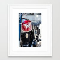 moto Framed Art Prints featuring Moto by Sébastien BOUVIER