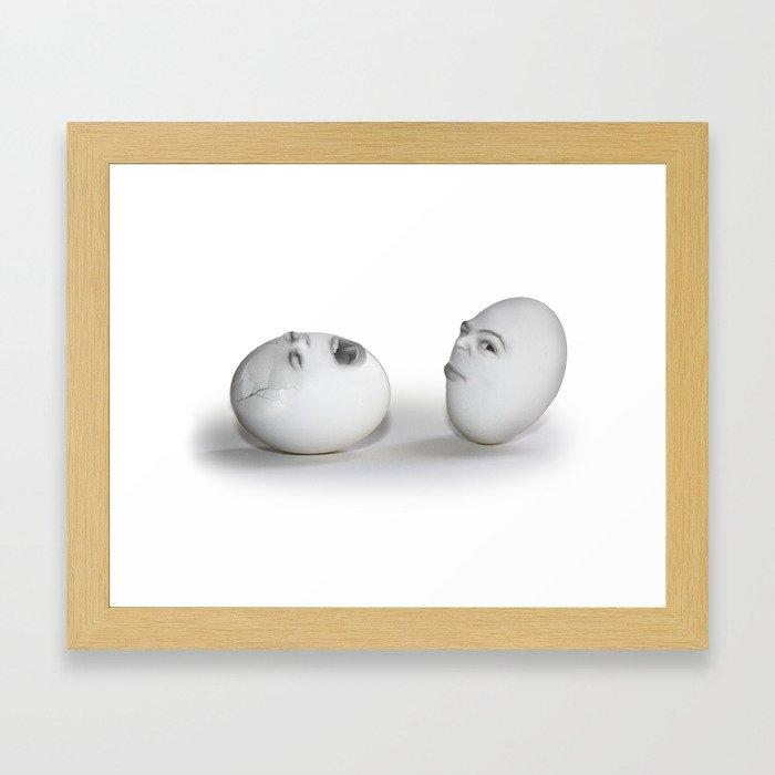 Cracked Egg & a Wink Framed Art Print