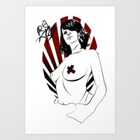 girl power Art Prints featuring Girl Power by Sirenphotos