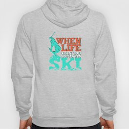 Ski Funny Skiing Vintage Boots Distressed Graphic Unisex Shirt Hoody