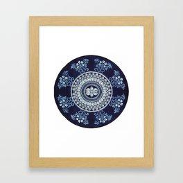 Hand Batik Cotton Round Table Cloth Beach Tapestries - See more at: http://www.handicrunch.com/en/pr Framed Art Print