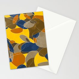 Abstract modern lines Stationery Cards