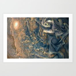 Surface of Jupiter Atmosphere Telescopic Photograph Art Print