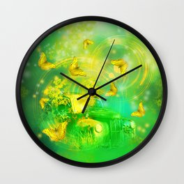 Dream wreck with butterflies Wall Clock