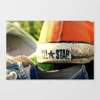 converse Canvas Prints featuring Converse by americansummers