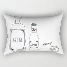 Gin tonic and lime illustration Rectangular Pillow