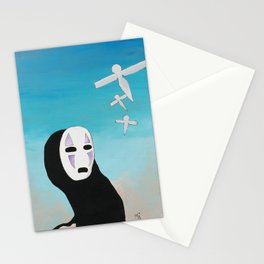 No Face & Paper Birds Stationery Cards