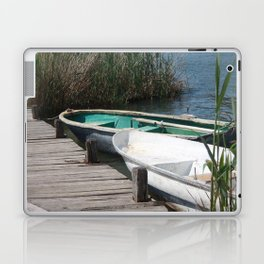 Reeds, Rowing Boats and Old Jetty at Dalyan Laptop & iPad Skin