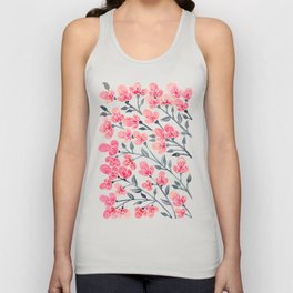 Cherry Blossoms – Pink & Black Palette Unisex Tank Top