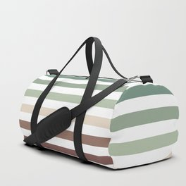 striped pattern - color stripes - autumn colors Duffle Bag