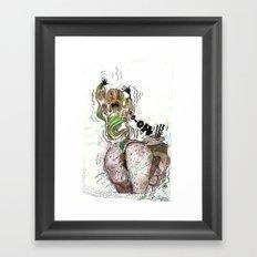 Spooky Chills Farting Thrills Framed Art Print