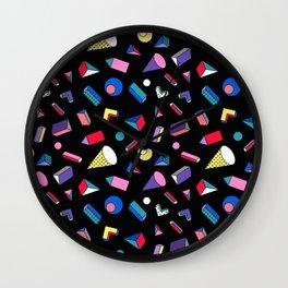3D Shapes - 90's Pattern Wall Clock