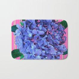 BLUE ABSTRACTED HYDRANGEA YELLOW-PINK Bath Mat
