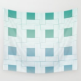 Woven pattern in soft colors Wall Tapestry