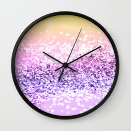 Unicorn Girls Glitter #12 #shiny #decor #art #society6 Wall Clock