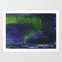 Northern light painting Art Print