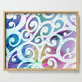 Watercolor Fiber Swirls Serving Tray