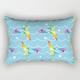 the Angel on the Dolphin on the Sea Wave_B Rectangular Pillow