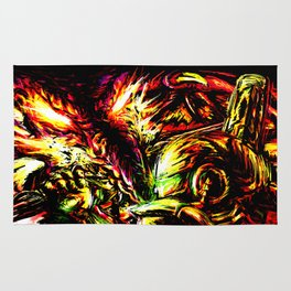 Metroid Metal: Ridley- Through the Fire.. Rug
