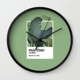 Pantone Series – Banana Leaf Wall Clock