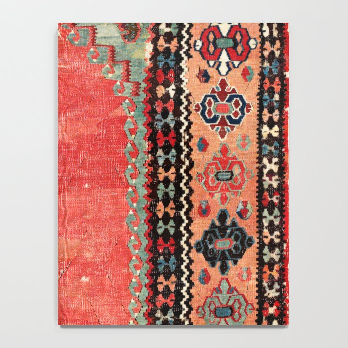 Sivas  Antique Cappadocian Turkish Niche Kilim Print Notebook