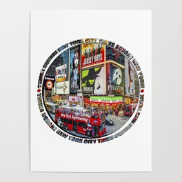 Times Square New York City Badge Poster